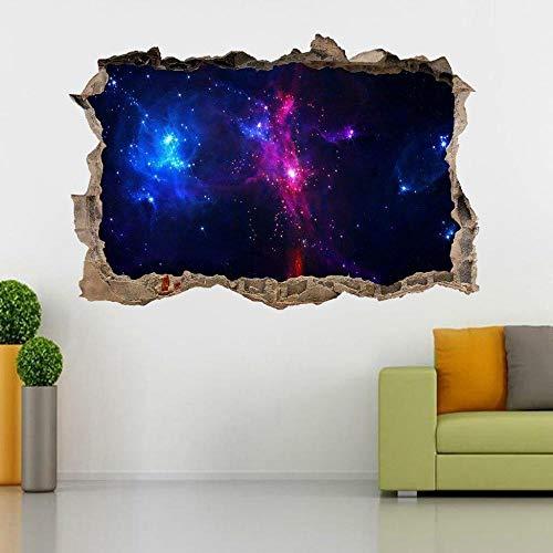 MXLYR Wandtattoo Space Galaxy Stars 3D zertrümmerte Wandaufkleber Aufkleber Kunst Wandbild