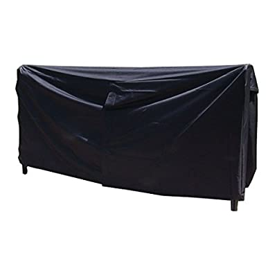 Sunnydaze 8-Foot Firewood Log Rack Cover - Weather-Resistant Outdoor Waterproof Heavy-Duty Wood Polyester Fabric Storage Cover with PVC Backing - Black