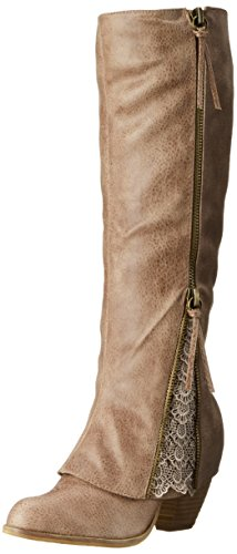 Not Rated Women's Sassy Classy Riding Boot, Taupe, 8 M US