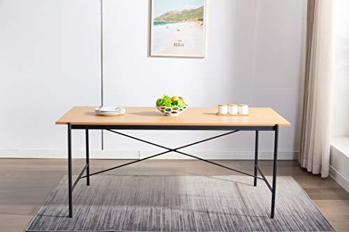 Marca Amazon - Movian Kyyvesi - Mesa de comedor, 180 x 90 x 75 cm, efecto...