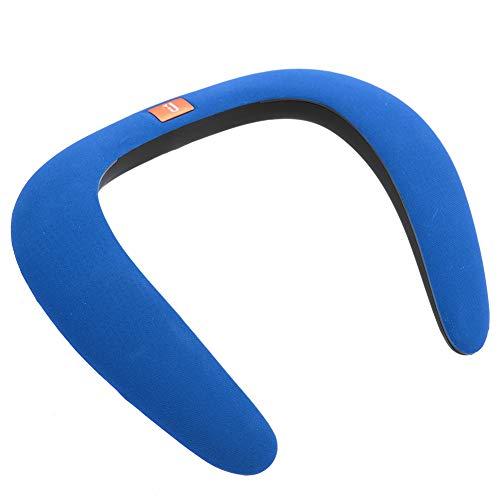 Wendry Draagbare draadloze Bluetooth luidspreker, draagbare draagbare draagbare draagbare luidspreker, sportdraagbare nek, MP3-speler, geschikt voor sportgymnastiek, fietsen, hardlopen, workout, blauw