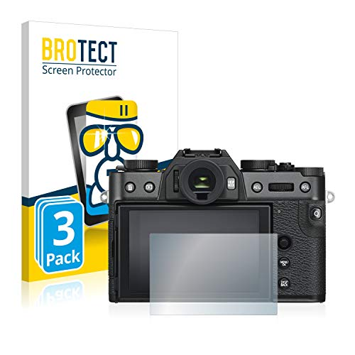 BROTECT Panzerglas Schutzfolie kompatibel mit Fujifilm X-T30 (3 Stück) - AirGlass, extrem Kratzfest, Anti-Fingerprint, Ultra-transparent