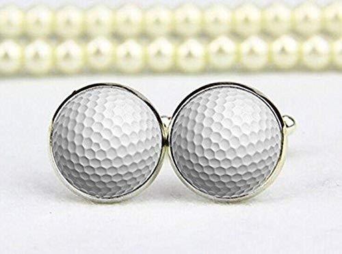 Balle de golf Boutons de manchette, boutons de manchette de mariage, Golf Boutons de manchette