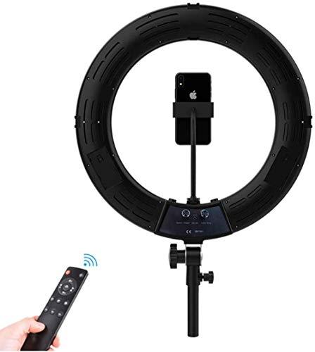 Selfie Ring Light 18 2700-5600K Dimbaar Ringlicht met Statief Stand Telefoonhouder Camera Foto Video Verlichting voor Live Stream Youtube Video Make-up Vlog Fotografie Zwart (Upgrade)