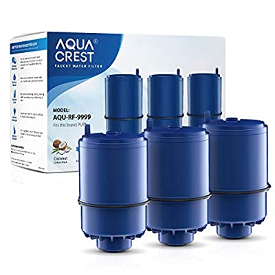 AQUA CREST Replacement Water Filter, Compatible with Pur RF-9999 Faucet Replacement Water Filter(Pack of 3)