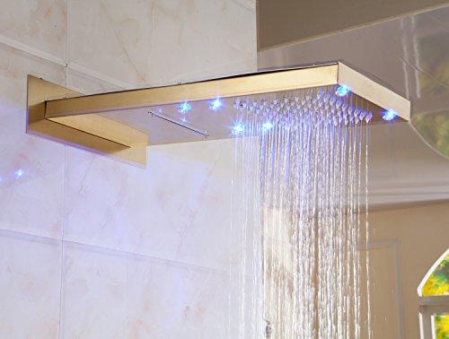 affordable led light rain waterfall bath shower head wall mounted