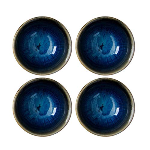 Happyyyami - Cuencos de cerámica para té o té, 4 unidades, estilo japonés