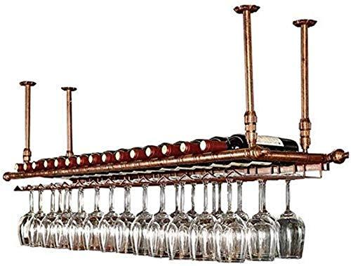 Bar Estante Flotante Estante De Almacenamiento En Pared, Estante para Botellas De Vino, Estante De Techo Ajustable, Estante De Almacenamiento Multifuncional,Bronce,60 * 30cm
