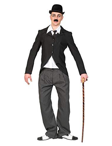 TrendClub100® Charlie Chaplin Film Movie 20er Jahre Kostüm für Erwachsene Herren (48-50)