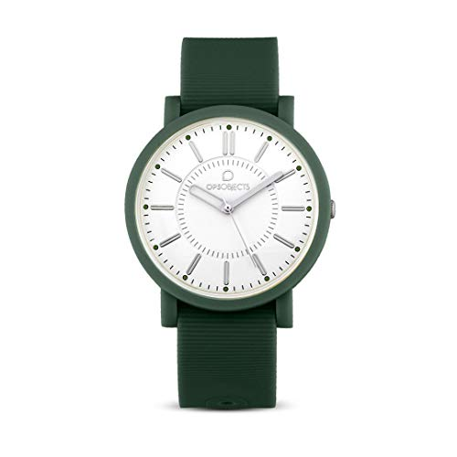 Reloj ELEGANTE Vintage militar verde silicona OPSPOSH-OPS 16