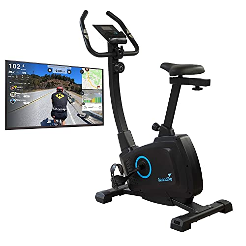 Skandika Bragi Ergómetro/Bicicleta estática - 7 kg masa de volante - Kinomap - Sistema de freno magnético - Bluetooth - Ajuste de altura