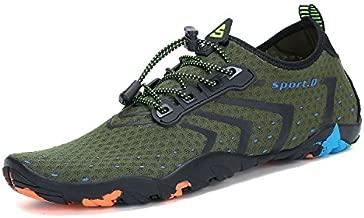 Mens Womens Water Shoes Quick Dry Barefoot for Swim Diving Surf Aqua Sports Pool Beach Walking Yoga Green 11