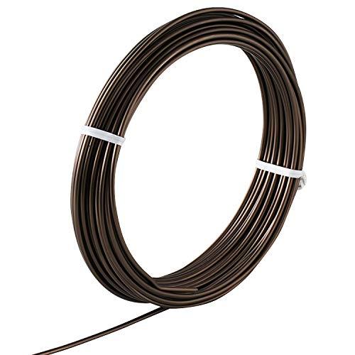 Hanafubuki Wazakura Japanese Bonsai Training Wire 6.0mm, Brown Anodized Coating Aluminum Made in Japan 150g - 5.9Ft(1.8m) 6.0mm