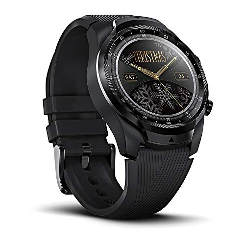 Ticwatch Pro 4G/LTE Smartwatch, Dual Display, Sleep Tracking, Swim-Ready, Long Battery Life, 1GB RAM Memory GPS, 24h Heart Rate Monitor, Cellular Connectivity for Verizon Phone Plan Users Only in US