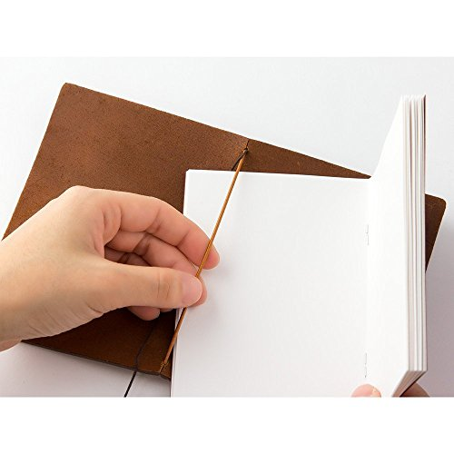 Midori Traveler's Notebook Leather Bundle Set , Passport Size Camel , Refill Connection Rubber Band 011 , Clear Zipper Case 004 Photo #6