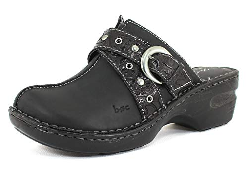 b.o.c. Women's Karley Black Leatherclogs-and-Mules-Shoes 8 B(M) US