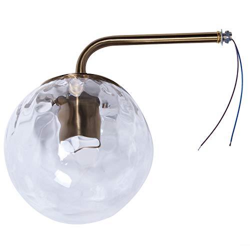 SODIAL Lampe de Mur Nordique en Verre Doré Salle de Bains Chambre Escalier LumièRe Maison Lampe Murale éClairage