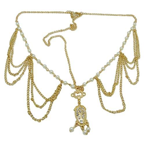 Beaupretty tête de chaîne bohème réglable gland perle bandeau front bande cheveux bijoux de demoiselle dhonneur bandeau de mariage
