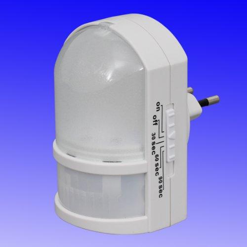Trango Sensor LED Nachtlicht TG11-038 mit Automatikfunktion mit Bewegungssensor I Orientierungslicht I Steckdose Licht mit Bewegungsmelder I Sicherheitslicht