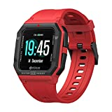 Zeblaze Ares Smart Watch Bluetooth 5.0 Heart Rate Tracking Smartwatch 3 ATM 15Days Battery Life Watch for iOS & Android (Red)