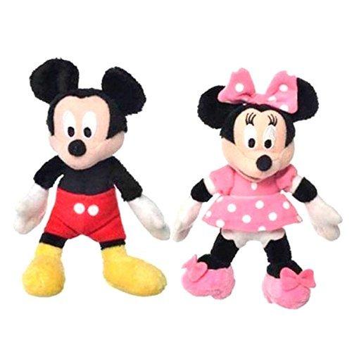 Disney 33148 - Coppia di 2 Peluche Minnie e Topolino 12 cm circa - Mickey Mouse