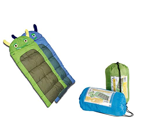 Dynamic24 Junior Kinder Schlafsack Monster Decke 170cm Kinderschlafsack Camping Outdoor