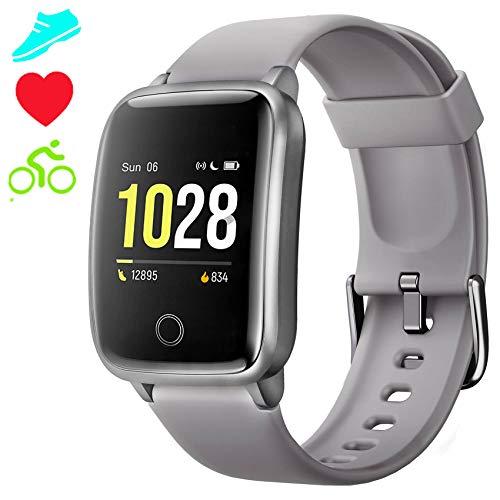 Jogfit Smartwatch Cronometro Orologio Fitness Donna Uomo Schermo Colori, Fitness Tracker Impermeabile IP68 Cardiofrequenzimetro da Polso, Activity Tracker Sport Contapassi Calorie Bambini Android iOS