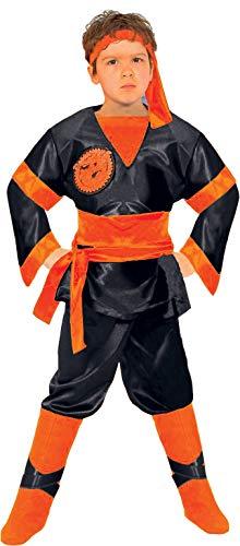 Ciao Dragon Ninja Black - Disfraz para nio, negro/naranja, 4-5 aos