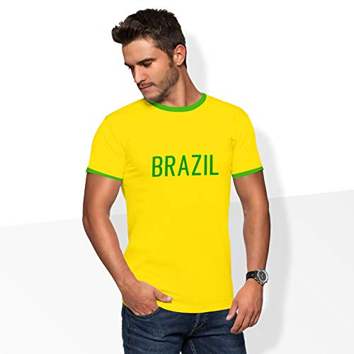 World of Football Player Shirt Brasilien Ronaldinho gelb - 164