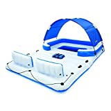 Bestway Hydro Force Tropical Breeze Floating Island Raft | Giant Inflatable Pool Float for Adults | Includes Canopy, Cupholders, & Cooler Bag | Lounge Fits Up to 6 People | Great for Pool, Lake, River