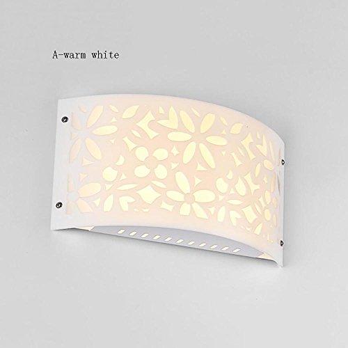 TOYM UK Lampe murale en acrylique de fer de 9WW LED, éclairage intérieur minimaliste moderne créatif pour la chambre de chevet/balcon / allée (Couleur : A-Warm white)