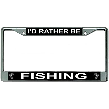 Download Amazon Com I D Rather Be Fishing Photo License Plate Frame Everything Else