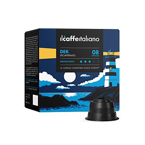 Il Caffè Italiano - Nescafè Dolce Gusto 96 Capsule compatibili - Miscela Decaffeinato Intensità 7...