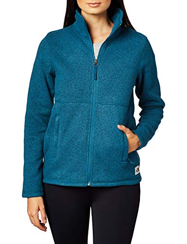 The North Face Women's Crescent Full-Zip, Blue Coral Black Heather, M
