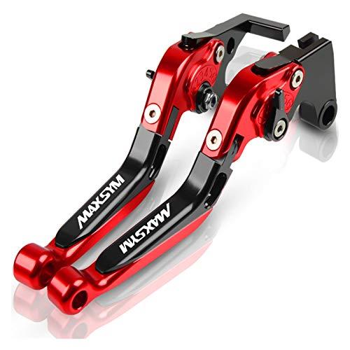 Embrague Palancas para MAXSYM 400 SYM MAXSYM 400i MAX400 Freno Mano Motocicleta Palancas Freno Embrague Ajustables Extensibles Plegables Cubrepuños Pit Bike (Color : G)