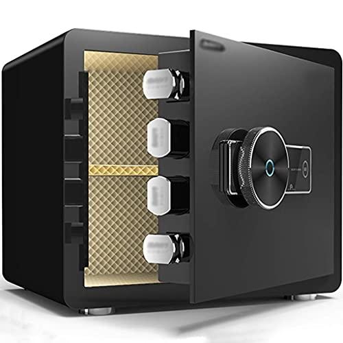 Cajas fuertes para gabinetes, caja fuerte con llave, caja fuerte pequeña oculta para el hogar, caja fuerte electrónica para huellas dactilares, gabinete de acero para almacenamiento de archivos de ofi