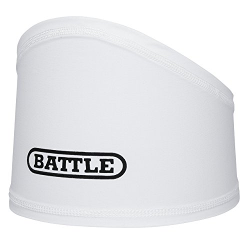Battle Skull Wrap – Under Helmet Sweat Control Headband – Moisture Wicking Headband – High Performance Accessories for Football and High Intensity Sports, 8 Years and Up, White
