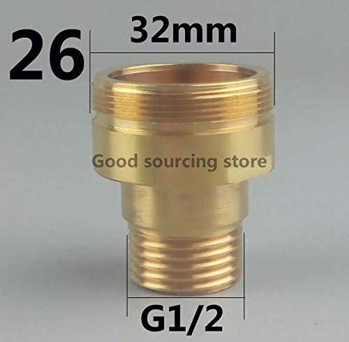 Robinet Accessoires 16/18/20/22/24/26/28/32 Purificateur cuisine eau robinet Aérateur adaptateur (Color : Male 32 G1 2)