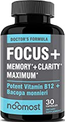 💯 BRAIN BOOST ENERGY SUPPLEMENT: Formulated by doctors, NooMost's advanced formula allows busy professionals, college students, and working moms to keep their brain awake, helping them achieve limitless potential by boosting focus, memory, concentrat...