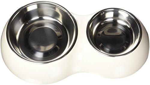 Catit - Cuenco Doble para Mascota, 1 x 350 ml y 1 x 160 ml