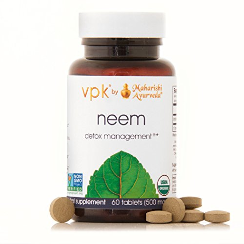 Organic Neem | 60 Herbal Tablets - 500 mg ea. | Natural Blood Purifier | Herbal Supplement for General Well-Being | Promotes Healthy, Glowing Skin