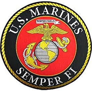 USMC, Logo Semper FI - Embroidered Novelty Patches, Iron On Patch - 12