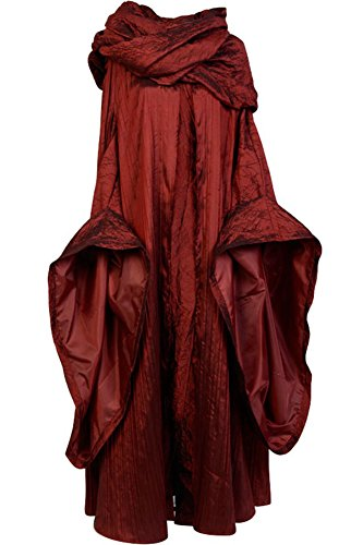 Cosplaysky Game of Thrones Dress The Red Woman Melisandre Costume Large