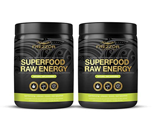 Hemp Protein Shake, 52 Superfoods & Antioxidants, Complete Protein Amino-Acids, Prebiotic & Probiotic, All-Natural & Certified, Raw Vegan Sports Performance & Recovery Nutrition Shake, 2 Pack