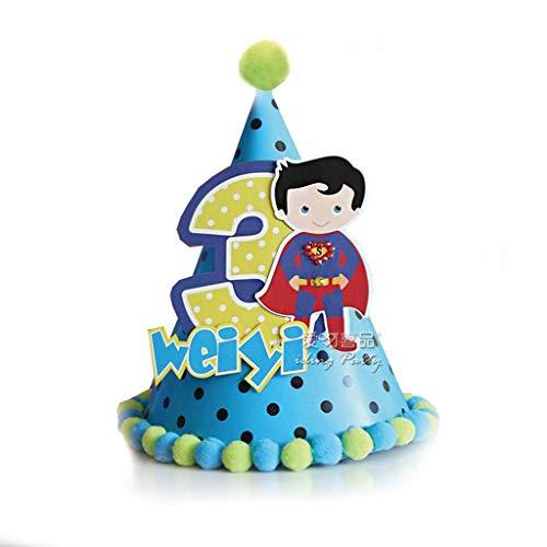 Onbekend gebruikersgedefinieerde namen & leeftijd van de kinderen verjaardag hoed baby 1 verjaardagsfeestscène decoratie taartdecoratie prinses hoed