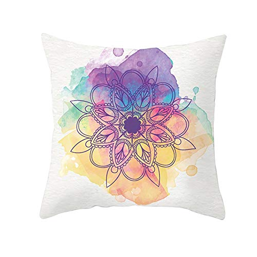Pillowcases Square Throw Pillow Case Set Flower Color Rendering For Home Sofa Bedroom Bed Car Livingroom Couch Decorative,Cozy Cotton Linen Christmas Throw Pillow Case Indoor & Outdoor C9460 40X40Cm