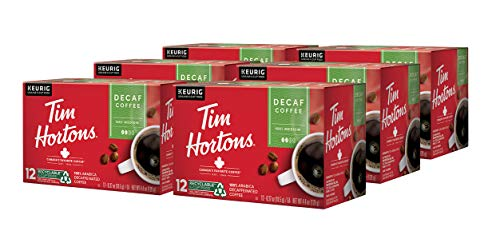 Tim Hortons Decaf, Medium Roast Coffee, 72 Single-Serve K-Cup Pods for Keurig