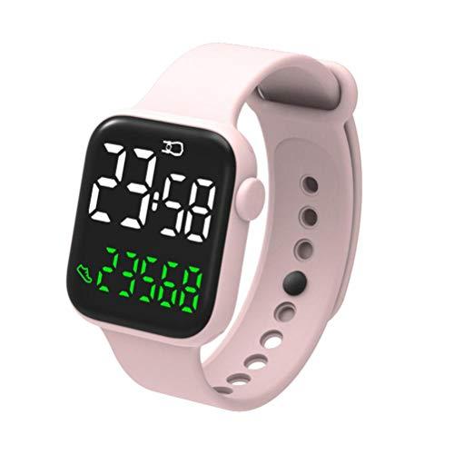 Enkomy Smartwatch, wasserdichte Komfortable Quadratische Elektronische Touchscreen-Uhr für Kinder