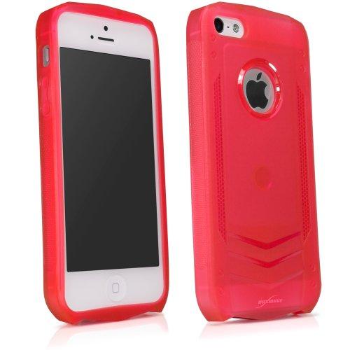 BoxWave Liquid Armor Apple iPhone 5s Hoesje - Slanke TPU Gel Hoesje voor Duurzame Anti-Slip Armor Pak Bescherming, Transparant met Transformer Style- Apple iPhone 5s Hoesjes en Hoezen (Scarlet Red)