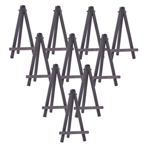 WANDIC Mini cavalletto per espositori in Legno, 15 Pezzi di Tavolo Nero da cavalletto per Pittura, cavalletti per artisti, per Adulti, Studenti, aule Scolastiche